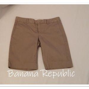 Banana Republic Tan Walking Shorts